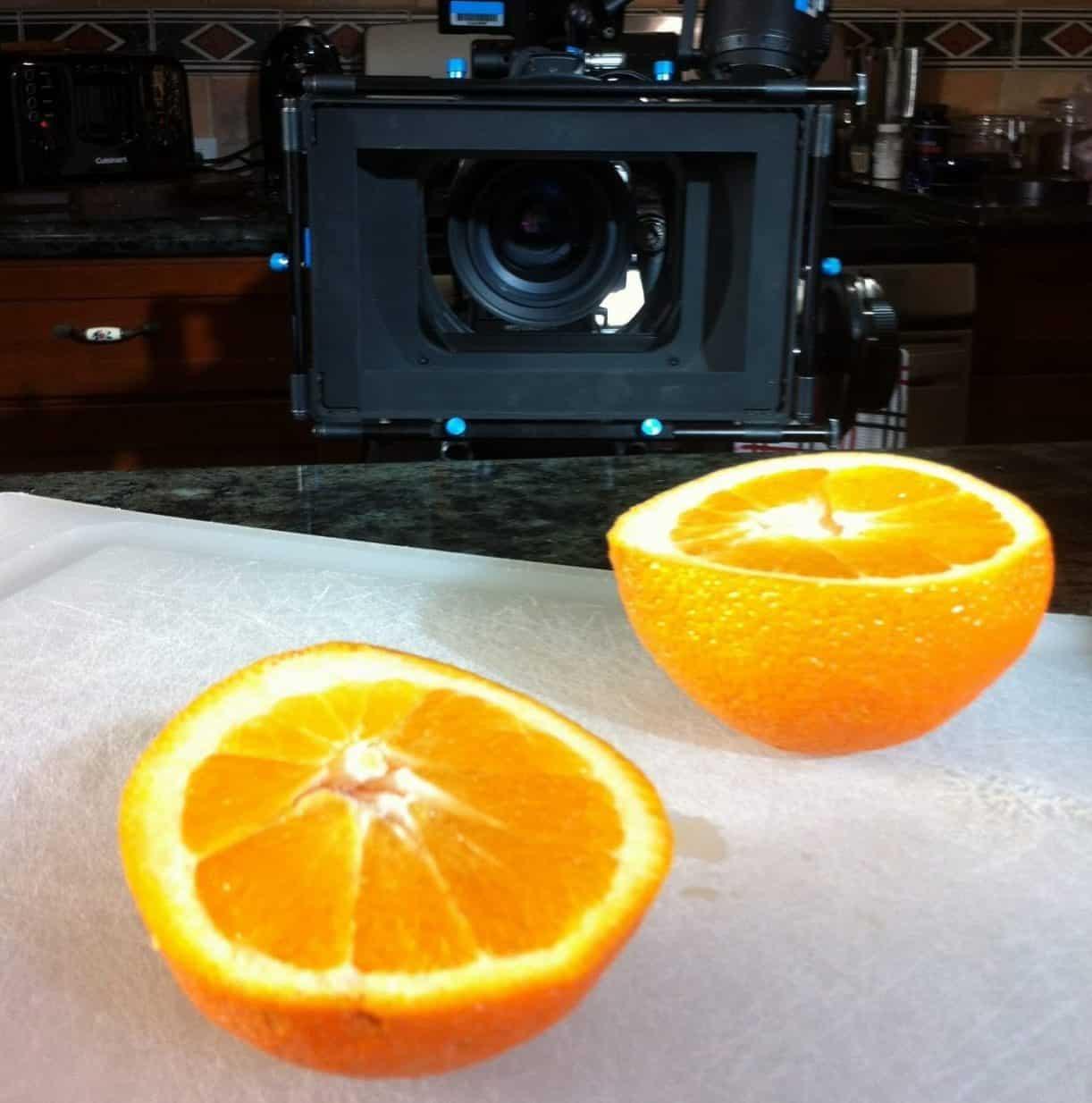 oranges studio shot RED 6k color grading in DaVinici Resolve Editing in Avid
